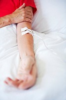 Woman with IV (thumbnail)