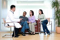 Doctor Talking to Family