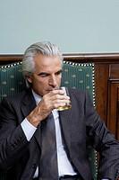 Businessman Drinking Scotch