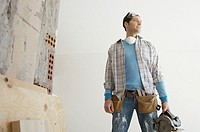 Man working on home renovations