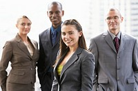Businesspeople Standing Together as a Team