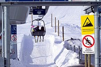 Chair, lift, Mittelberg, Austria,