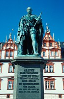 Prince, Albert, monument, town, house, Coburg, Bavaria, Germany,