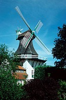 Windmill, Anna, Rieseby-Norby, Schleswig-Holstein, Germany,
