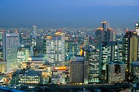 Skyline of Kita business district, Osaka. Japan