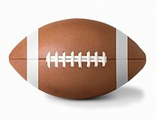 American football, against white background, close-up