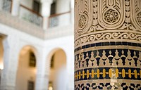 ´Decorative fretwork on column, close-up´