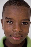 Close up of African boy