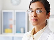 Close up of Indian female doctor