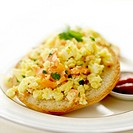 Scrambled egg and smoked salmon