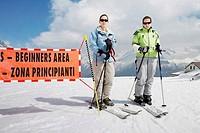 Female skiers