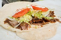 Dürüm döner rolled döner ready for rolling