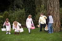 Children looking for Easter eggs