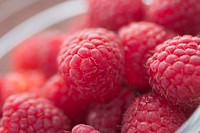 Close-up of raspberries