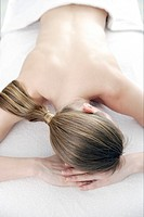 Woman prepared for back massage