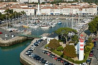 The city of La Rochelle. Fortified port and harbour on the Atlantic coast. Charente Maritime department. Poitou Charentes Region. France.