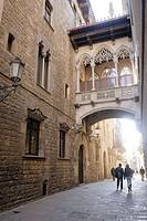 Carrer del Bisbe. Gothic Quarter. Barcelona. Catalonia. Spain