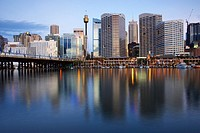 Australia, Sydney, Darling Harbour, sunset
