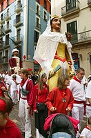 The Parade of the Giants, San Fermin Festival, Pamplona. Navarra, Spain