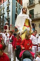 The Parade of the Giants, San Fermin Festival, Pamplona. Navarra, Spain