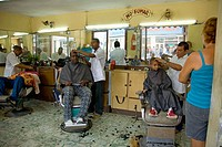 Hairdresser's in the city centre. Santiago de Cuba, Cuba