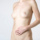 A female nude, mid section