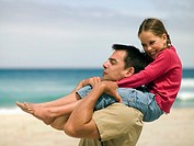 A father carrying his daughter on his shoulders (thumbnail)