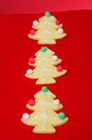 Christmas tree shaped cookies