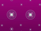 Crosses in circles against a purple background