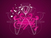Abstract design on a purple background