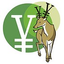 Deer with the Yen sign