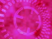 Circular pattern on a pink background