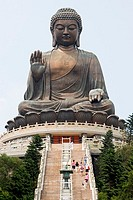 Big buddha at po lin monastery