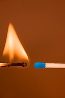 Lit and unlit matches