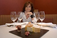 Mey Hofmann, cheese cake, 'Hofmann restaurant and Cooking school', Carrer Argenteria 9, El Born, Barcelona, Spain