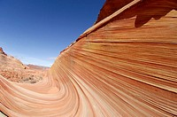 Sandstone and petrified sand formations at Paria Canyon, in vermillion Cliffs area, Arizona, USA