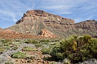 Rock formations on volcanic landscape, Pico De Teide, El Teide National Park, Tenerife, Canary Islands, Spain