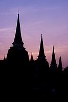 Three Chedis of Wat Phra Si Sanphet, Ayutthaya, Thailand