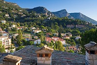 View from Vence across valley, Cote D'Azur, France