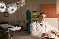 Doctor in examining room