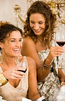 Women having wine together