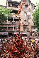 Dahi Hundies , Human Pyramid , Janmashtami Janmashtami gokul ashtami govinda Festival , india