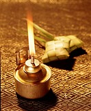 Oil lamp and ketupat, Hari Raya Puasa, Malaysia