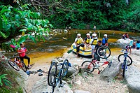 Canoeing during an outdoor adventure, Kedah, Malaysia