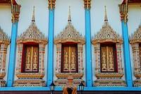 Front facade of a Siam Temple in Kelantan, Malaysia