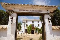 Entrance to Museo de Usos y Costumbres de San Benito, Antequera. Malada province, Andalucia, Spain