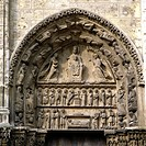 geography/travel, France, Chartres, churches and convents, Notre-Dame cathedral, exterior view, northern portal, tympanum, mother of God on throne, 12...