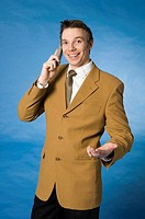 Businessman talking on the mobile