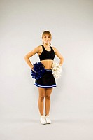 Teenage girl in cheerleading outfit (thumbnail)