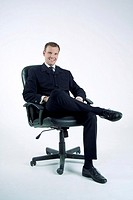 Businessman sitting on office chair